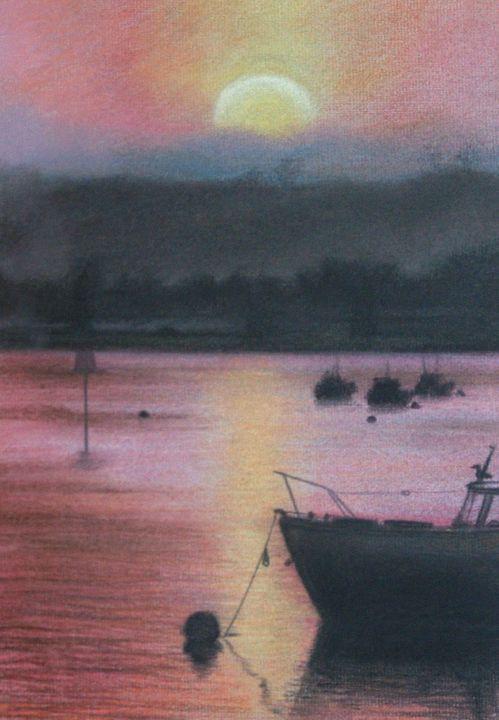 Sunset at Oulton Broad - Joel Ramsay Art