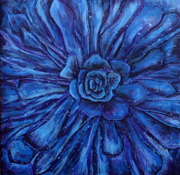 Blue Flower - Joel Ramsay Art