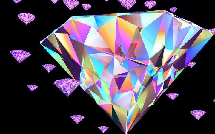 Iridescent Diamond - LKDesigns904