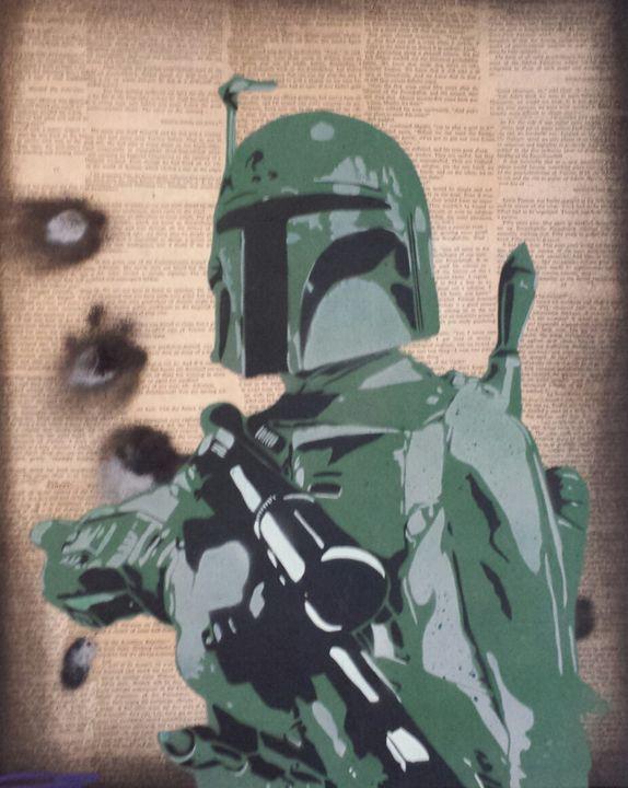 Boba Fett - Our Street Art - Paintings & Prints, Entertainment