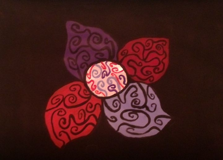 abstract flower - lyndsey's art