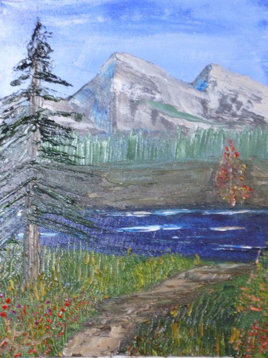 Field beyond the Pond - Roses Artwork