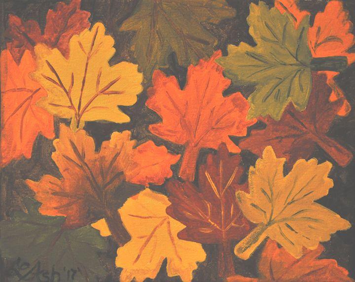 Fall leaves - Roses Artwork