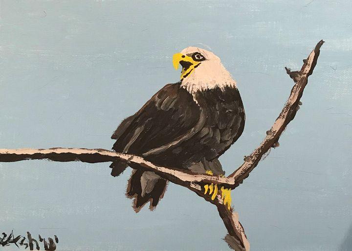 Talking Bald Eagle - Roses Artwork