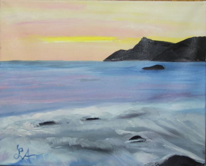 Seaside Landscape - Roses Artwork