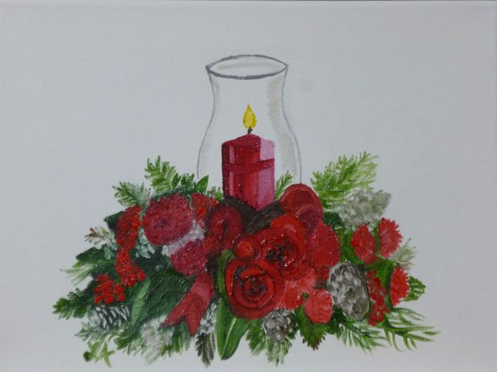 Christmas Candle - Roses Artwork