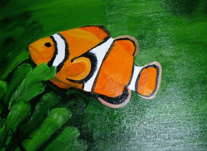 Clown fish - Roses Artwork
