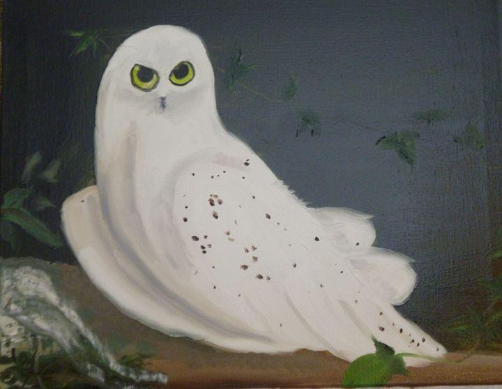 White Owl - Roses Artwork
