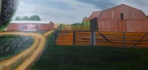 Working farm barn and corral