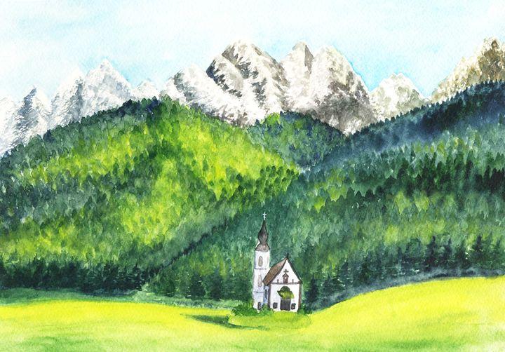Mountain church - Yana Solare Art
