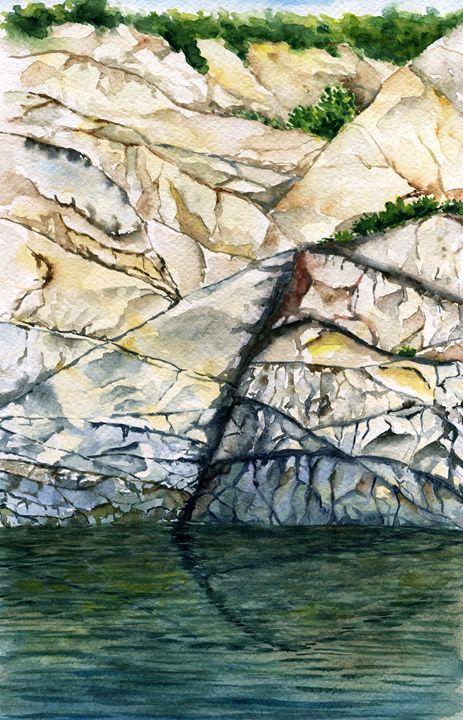 Sea rocks - Yana Solare Art