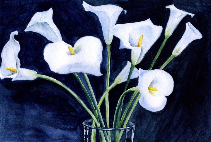 Tender calla lilies - Yana Solare Art