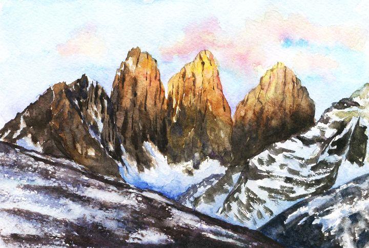Mountain sunset - Yana Solare Art