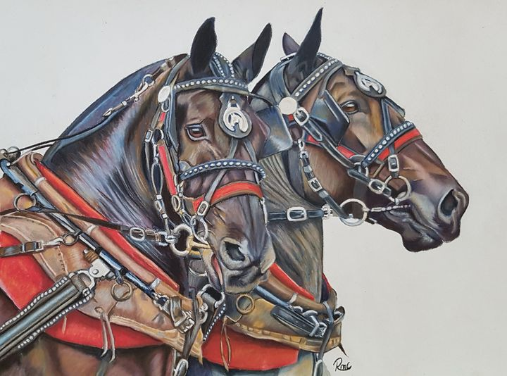 Show and Shine. - Pastel Art by Rebecca