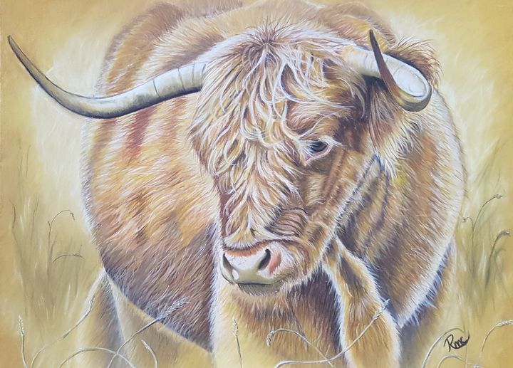 Hairy Horns. - Pastel Art by Rebecca