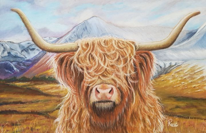Hairy Mountain - Pastel Art by Rebecca