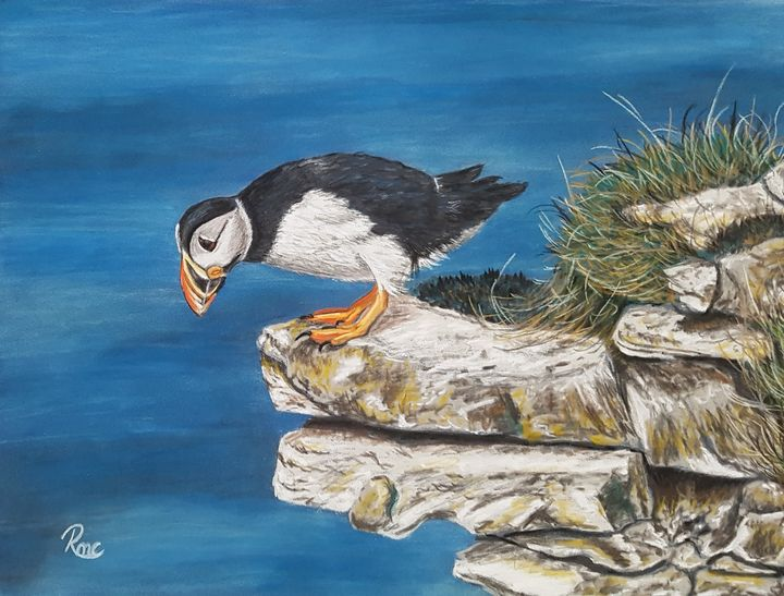 Don't Look Down! - Pastel Art by Rebecca
