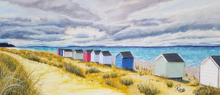Beach Walk - Pastel Art by Rebecca