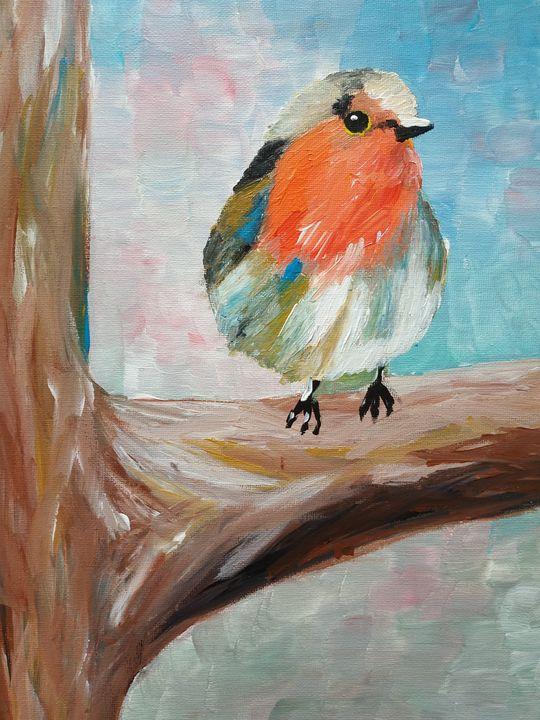 robin in tree - chris