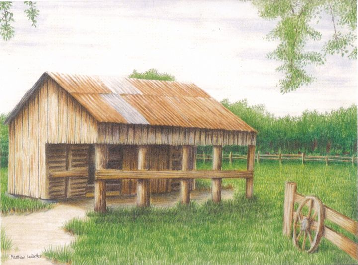barn near forest - Matthew Ledbetter