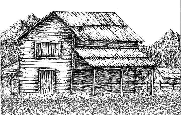 barn near mountians - Matthew Ledbetter