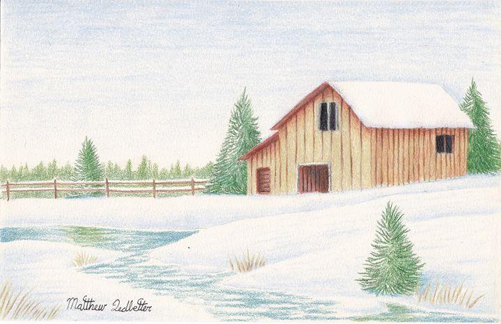 barn in the snow - Matthew Ledbetter