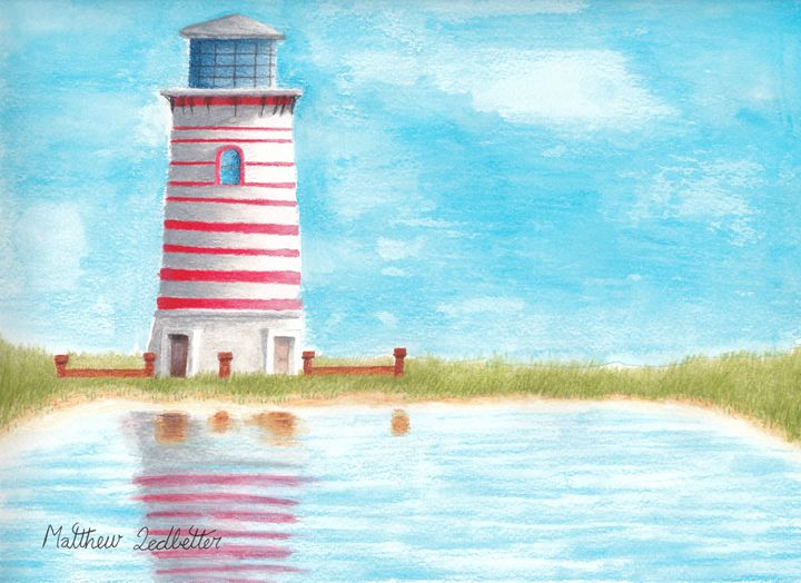 light house near the water - Matthew Ledbetter