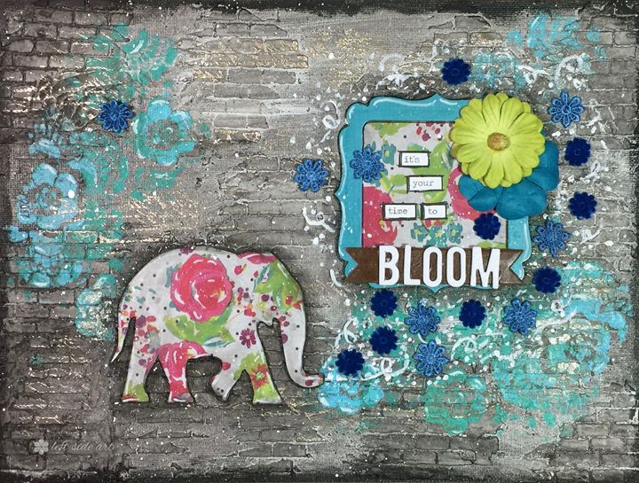 It's Your Time To Bloom - Christine Newell • Left Side Art