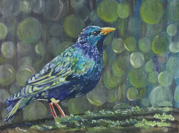 Inktense Bird - Christine Newell • Left Side Art