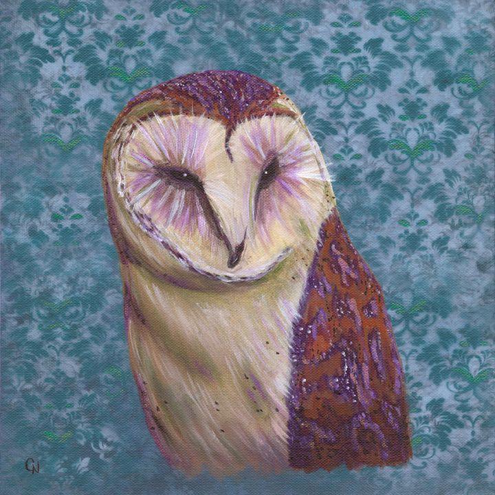 Purple Owl - Christine Newell • Left Side Art