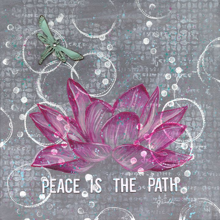 Peace is the Path - Christine Newell • Left Side Art