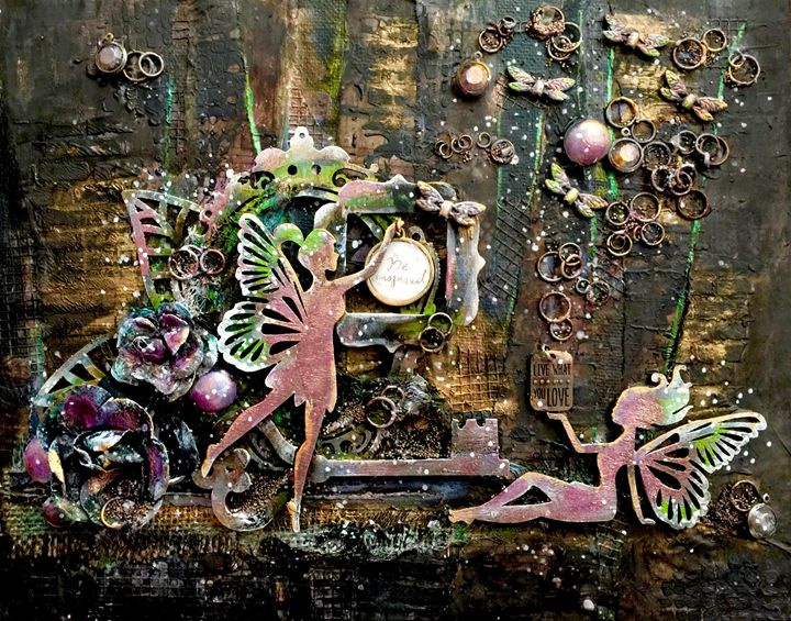Be Inspired (Fairies) - Christine Newell • Left Side Art