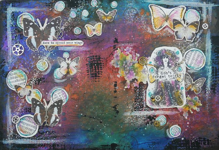 Spread Your Wings - Christine Newell • Left Side Art