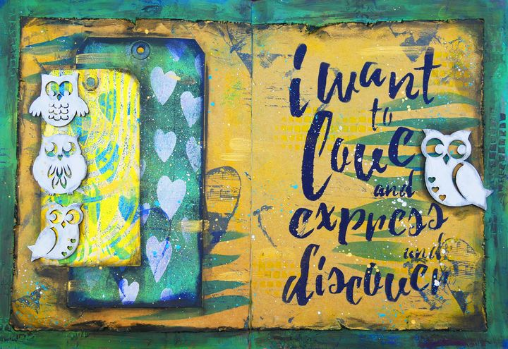 Love Express Discover - Christine Newell • Left Side Art