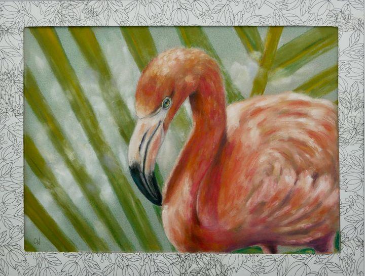 Pink Flamingo - Christine Newell • Left Side Art