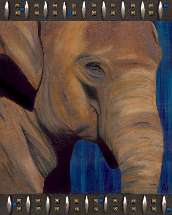 ed856b7432cdb Confidence (Elephant) - Christine Newell • Left Side Art - Paintings ...