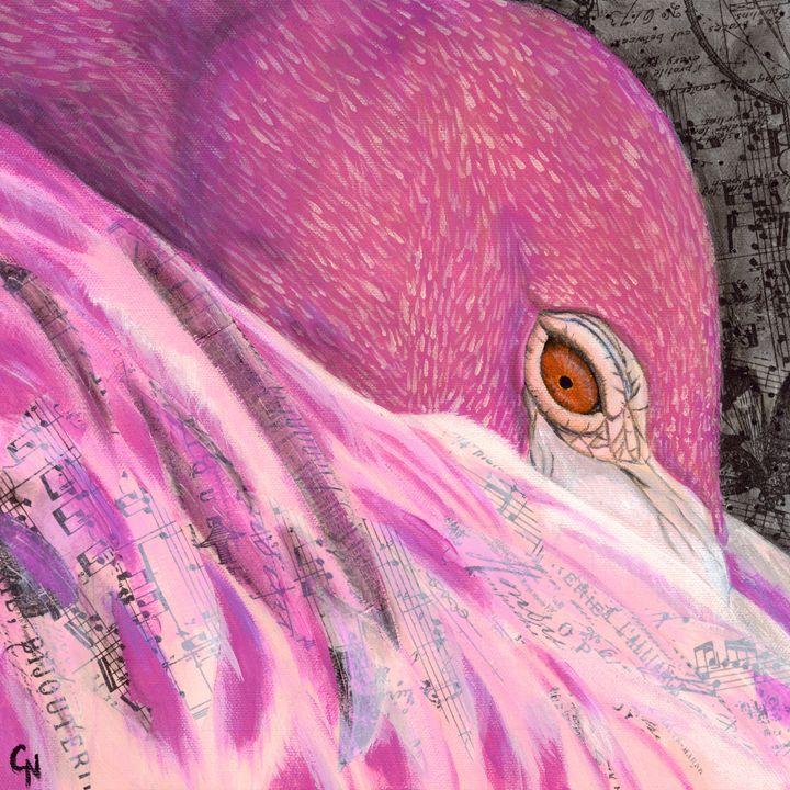 Serenade (Flamingo) - Christine Newell • Left Side Art