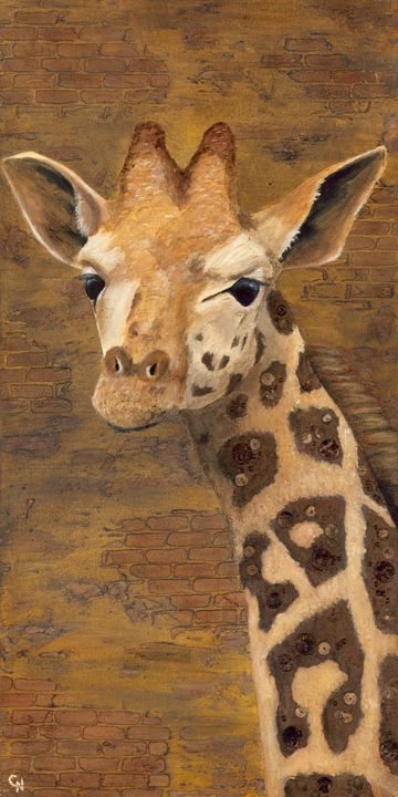 Traveler (Giraffe) - Christine Newell • Left Side Art