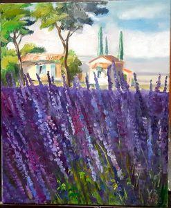 Provence Lavender original oil paint