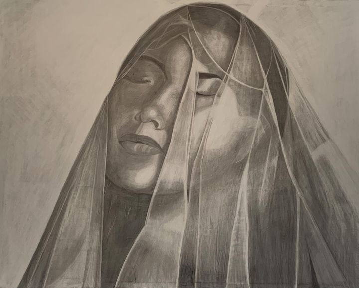 Veiled woman - BRoyal Design