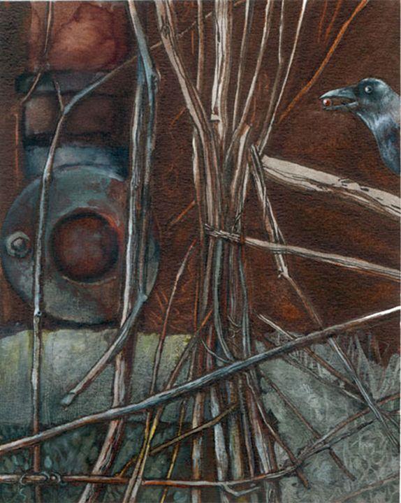 Melinda III - Crow - Dagmara Matuszak Fantasy Art
