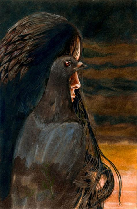 Bird Lady II - Dagmara Matuszak Fantasy Art