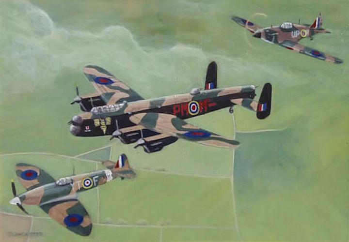 'Battle of Britain Memorial Flight' - Art by Timothy Lancaster