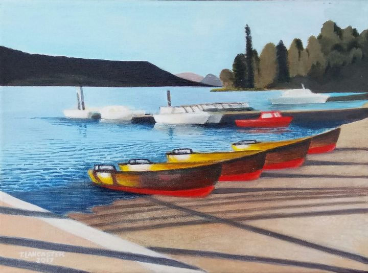 'Bowness Boats' - Art by Timothy Lancaster