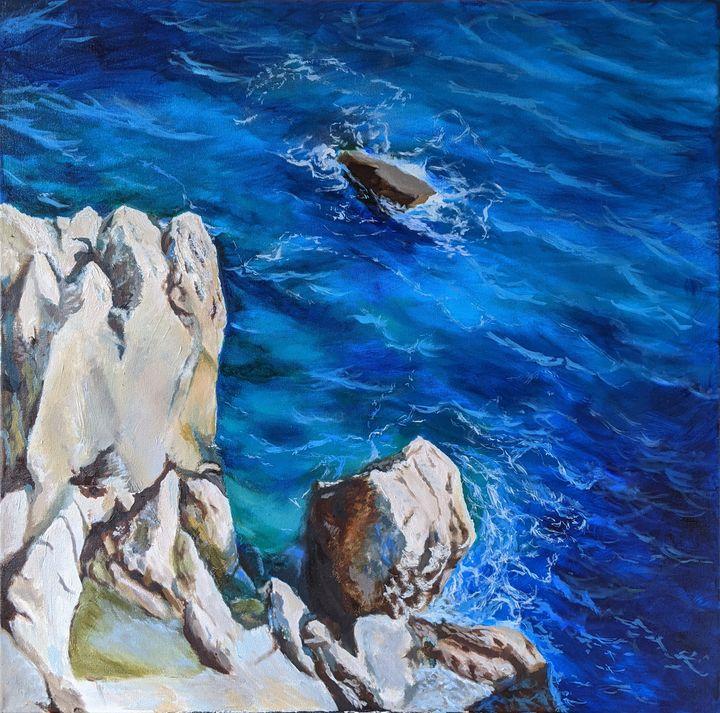 Nizza, Côte d'Azur Painting Seascape - AnnaBrazhnikova