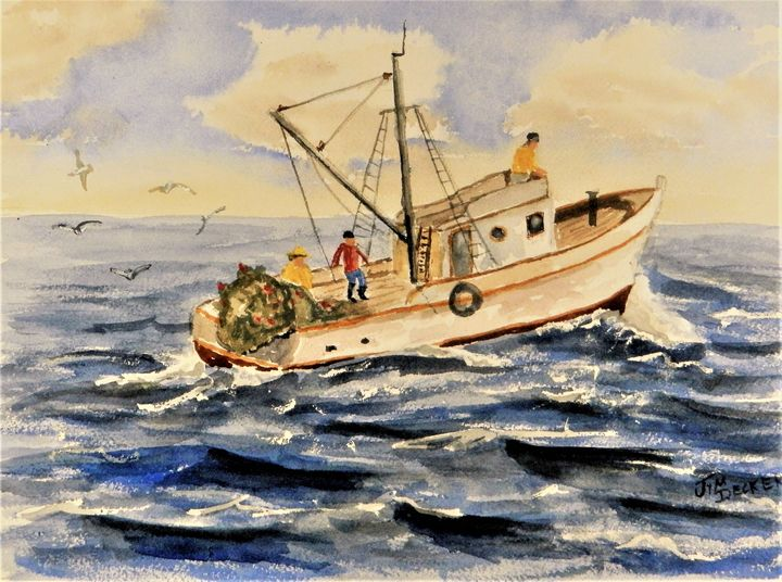 Lets Go Fishing - jimdeckersartwork