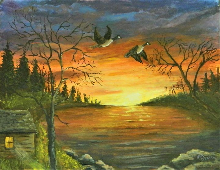 CANADIAN SUNSET - jimdeckersartwork