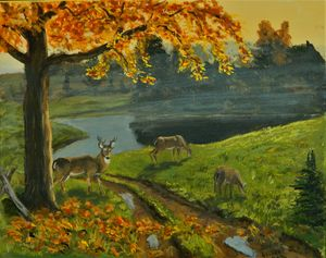 WILDLIFE Autumn Landscape