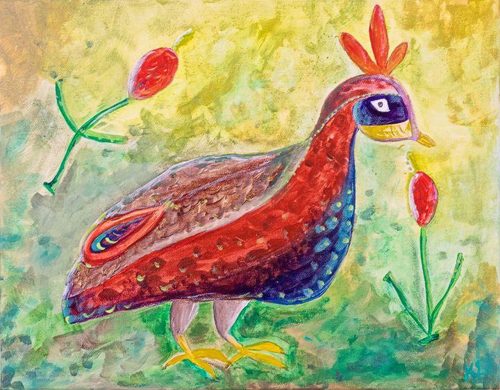 Roman Mosaic Peacock - Karine Leduc