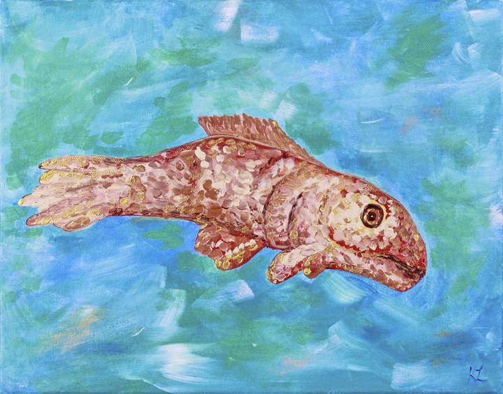 Roman Mosaic Fish - Karine Leduc